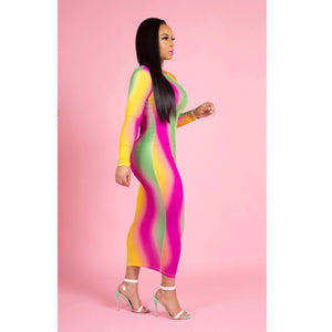 """Starburst"" Stretch Dress"
