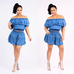 Sasha Denim Skort Set (Final Sale‼️)