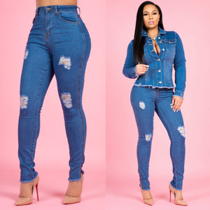 """Toya"" Mid Rise Jeans"
