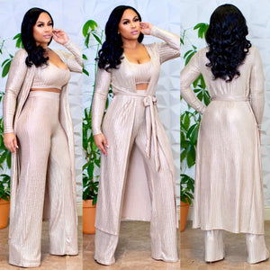 """Golden Lights"" 3pc Palazzo Set"