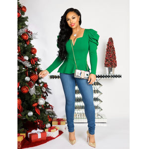 Jayda Peplum Top