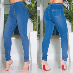 """Uptown"" Stretch High Waist Jeans"