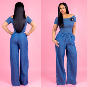 Mary-Jane Denim Jumpsuit
