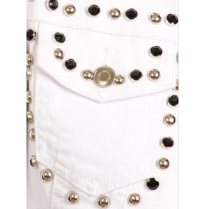 """Khloe"" Studded Denim Jacket"