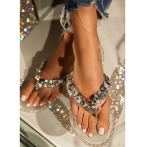 """Ice Me Out"" 💎 Rhinestone Sandal"