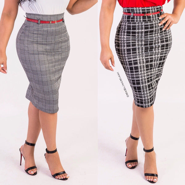 Aiko High Waist Skirt (Plaid Edition)