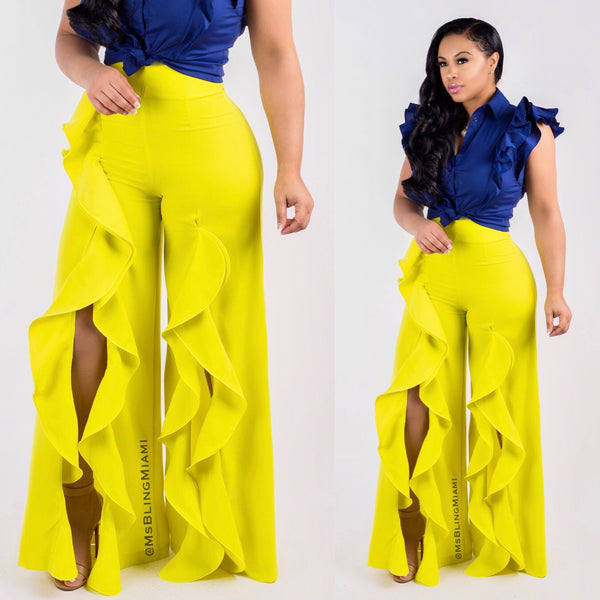 Havana High Waist Pants 💛