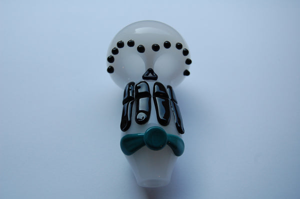 Day of The Dead Skull Glass Spoon