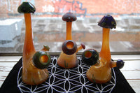 Wusavi Polished Blue Mushroom Mini Tube Rig Sculpture with Matching Dome