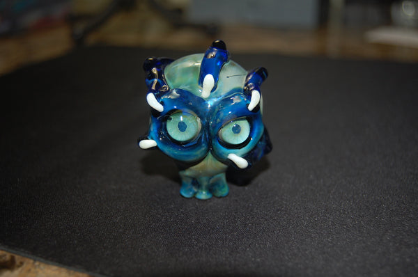 Blue Skull Glass Handpipe Cheap Heady Glass