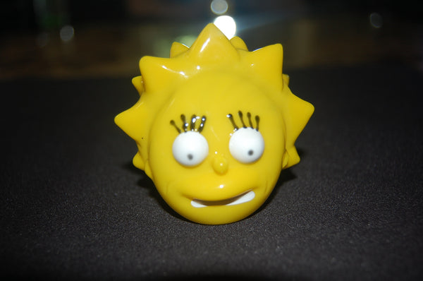 lisa simpson hand blown glass pipe