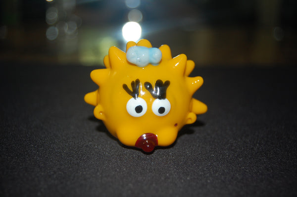 Baby Maggie Simpson Glass Hand Pipe