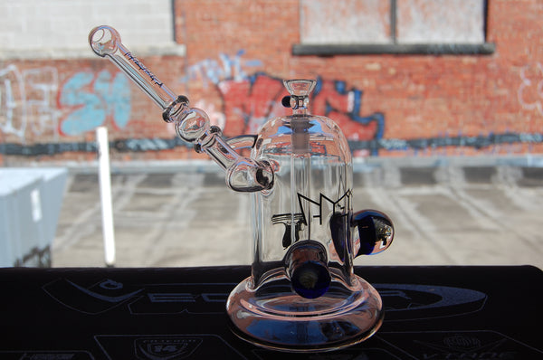 Clout Glass Bubbler w/ implosions