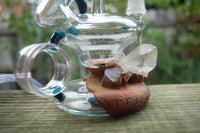 Boom Felazi Electroformed Ring Bubbler with Crystals