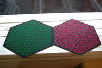 Set of 2 Pipe Mats / Crystal Grids