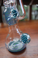 cheap blue and green heady glass oil rig