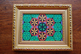 Fall Flower of Life Framed Original Drawing