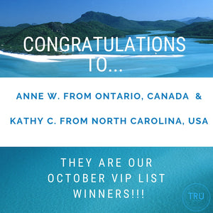 Congratulations to our October VIP Draw Winners!