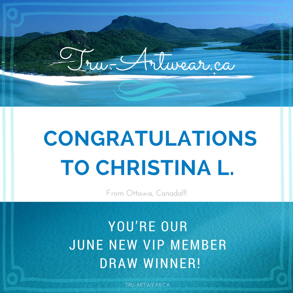 Congratulations to our June draw NEW VIP member winner!