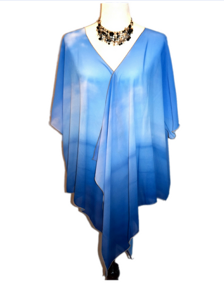 4. 'Where Water Meets Sky' Draped Kimono Cardigan - Tru-Artwear.ca