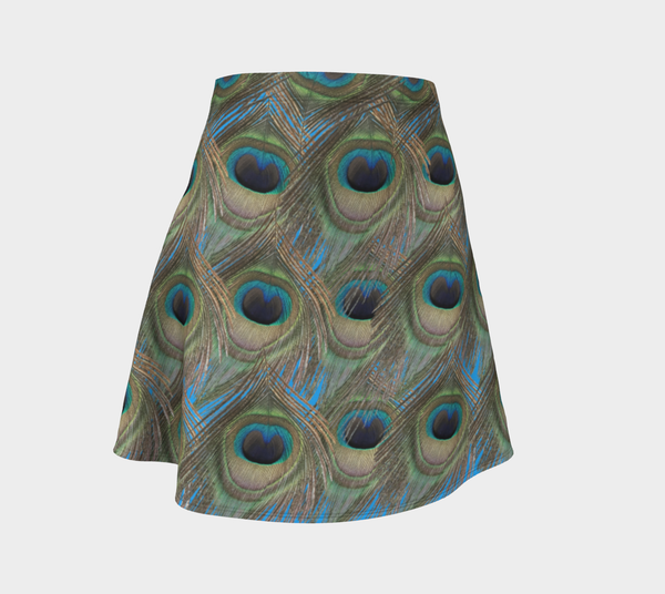 Peacock Feather Flare Skirt