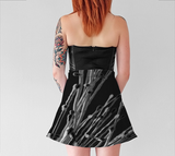 Black Grasses Flare Skirt - Tru-Artwear.ca