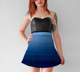 Where Water Meets Sky Flare Skirt - Tru-Artwear.ca