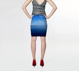 Where Water Meets Sky Fitted Skirt - Tru-Artwear.ca