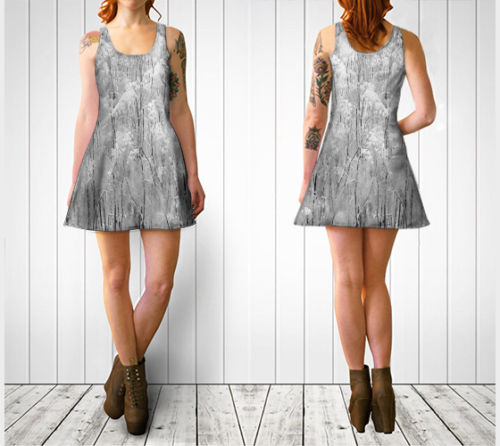 Frosted Ornamentals Flare Dress - Tru-Artwear.ca