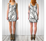 White Pearl Grass Fitted Dress - Tru-Artwear.ca