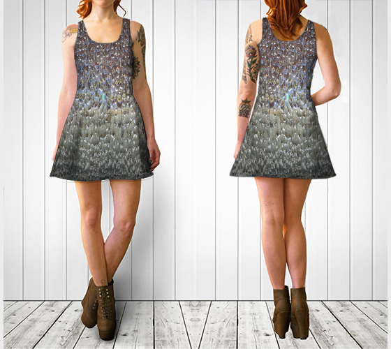 Water No.1 Textile Series Flare Dress - Tru-Artwear.ca