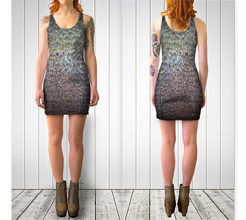 Water No.1 Fitted Dress - Tru-Artwear.ca