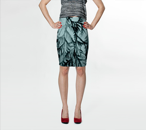 Just Beyond the Trees Fitted Skirt - Tru-Artwear.ca