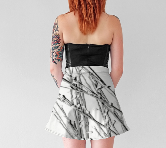 1. White Pearl Grass Flare Skirt - Tru-Artwear.ca