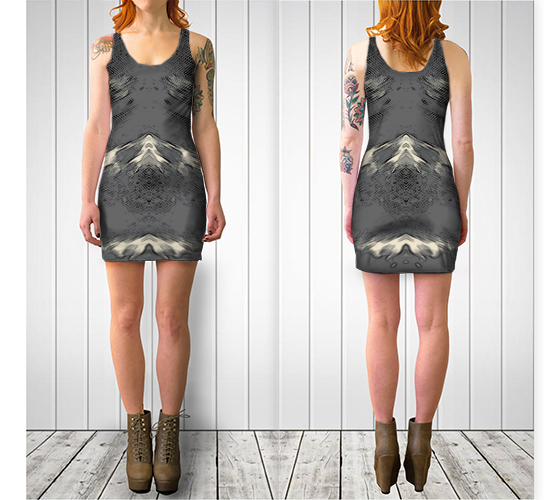 Flight of Spirit V.2 Fitted Dress - Tru-Artwear.ca