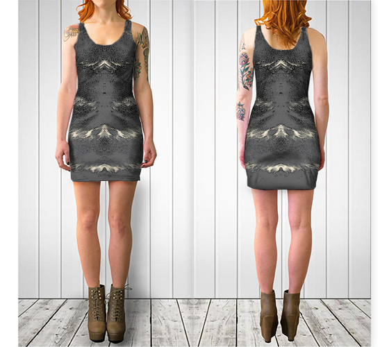 Flight of Spirit Fitted Dress - Tru-Artwear.ca
