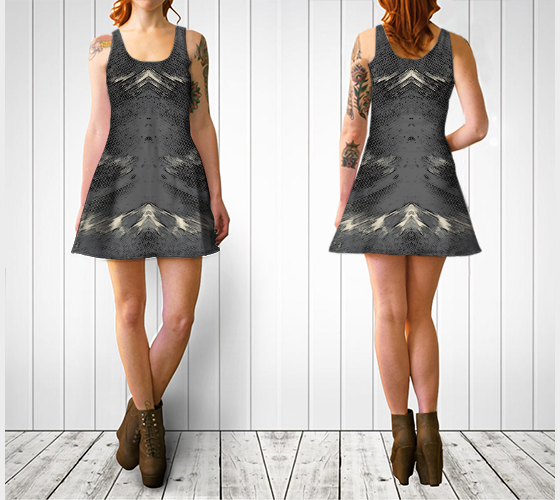 Flight of Spirit Flare Dress - Tru-Artwear.ca