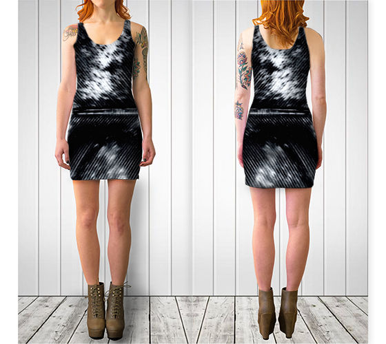 BNW Feather Fitted Dress - Tru-Artwear.ca