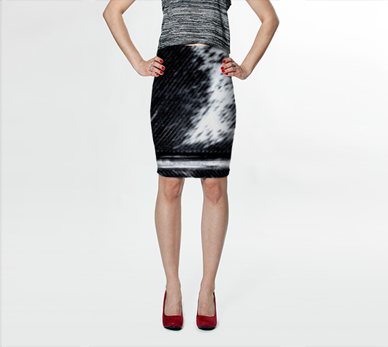 BNW Feather Fitted Skirt - Trū Canadian ArtWear by Nadia Bonello