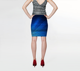 Blue Web Fitted Skirt - Tru-Artwear.ca
