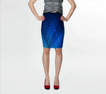 Blue Web v.2 Fitted Skirt - Tru-Artwear.ca