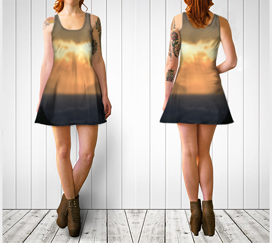 Torino Sunset Flare Dress - Tru-Artwear.ca
