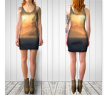 Torino Sunset Fitted Dress - Tru-Artwear.ca