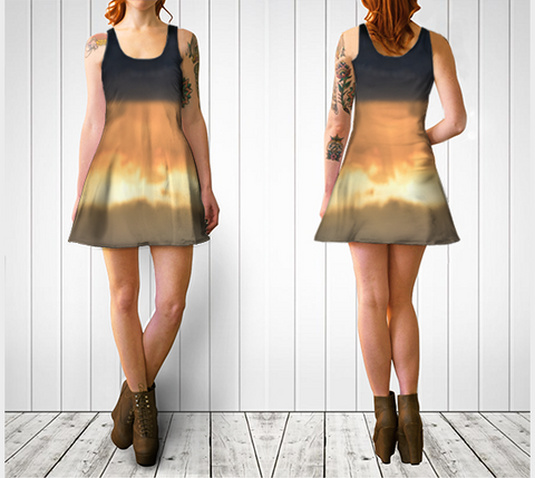 Torino Sunset Flare Dress No.2 - Tru-Artwear.ca