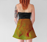 Abstract Flower Flare Skirt - Tru-Artwear.ca