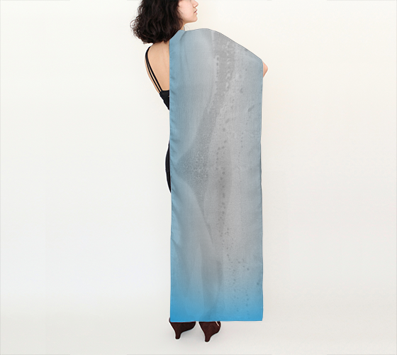 "Shawls | Limited Edition | Made to Order: Blue Mountain Long Scarf (16"" x 72"") - Tru-Artwear.ca"