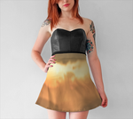 Torino Sunset Flare Skirt No.1 - Tru-Artwear.ca