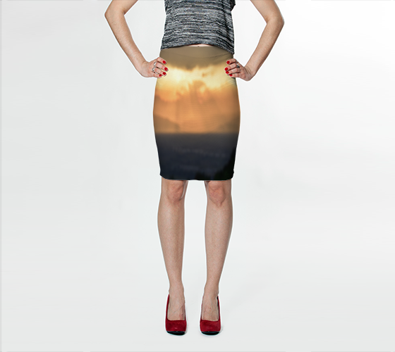 Torino Sunset Fitted Skirt No.1 - Tru-Artwear.ca