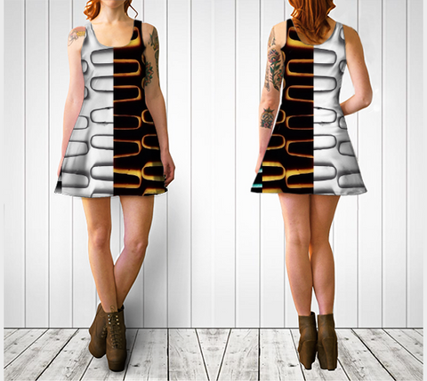 Radiator Coils Flare Dress No.1 - Tru-Artwear.ca