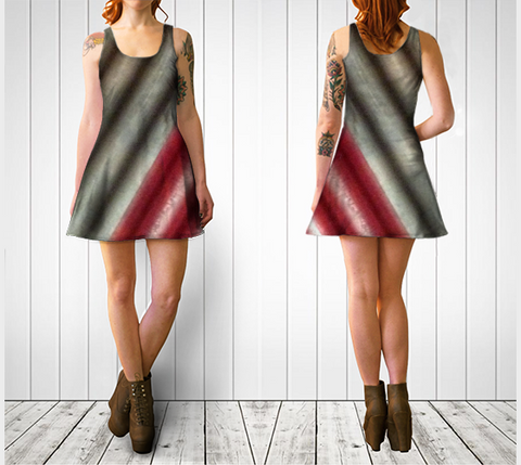 Industrial Wall Diagonal Flare Dress - Tru-Artwear.ca
